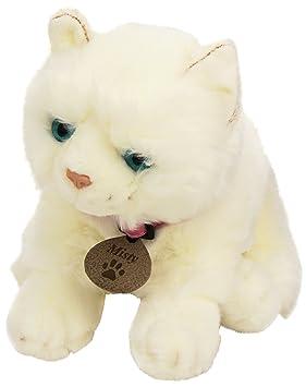 Keel Toys SC1485 - Misty gato de peluche, color blanco