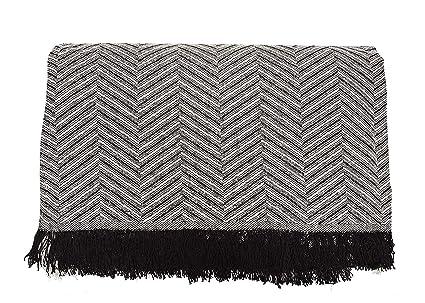 Cabatex Home - Colcha Multiusos Plaid Foulard Cubre SOFÁ O Cama Mod. ZIGA (Marrón, 230_x_260_cm)