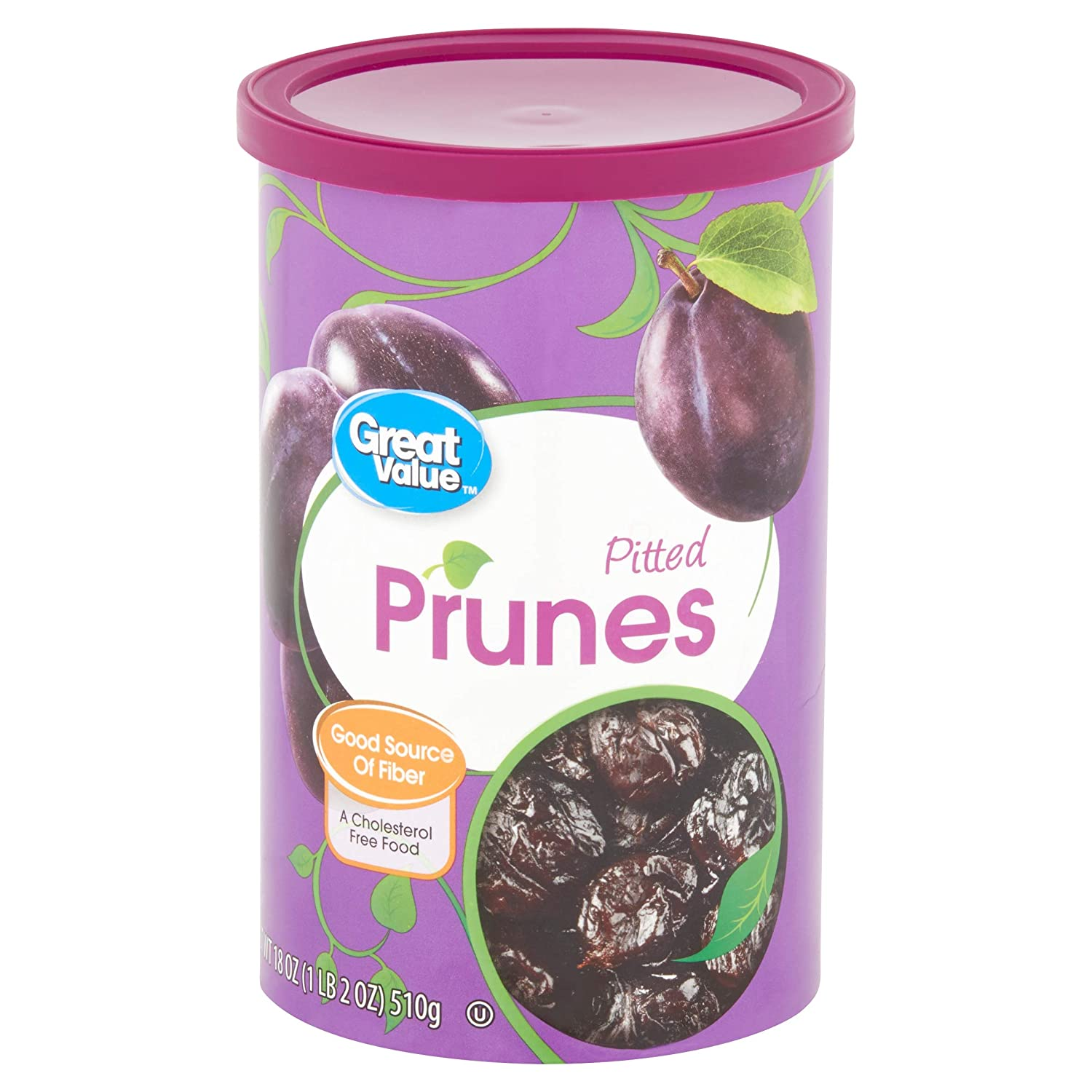 18 Oz Great Value Pitted Dried Prunes (Pack of 6)