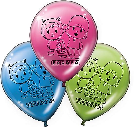 Verbetena, 016001512, pack 8 globos fiesta y cumpleaños Pocoyo y Nina,: Amazon.es: Hogar