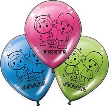 Verbetena, 016001512, pack 8 globos fiesta y cumpleaños Pocoyo y ...
