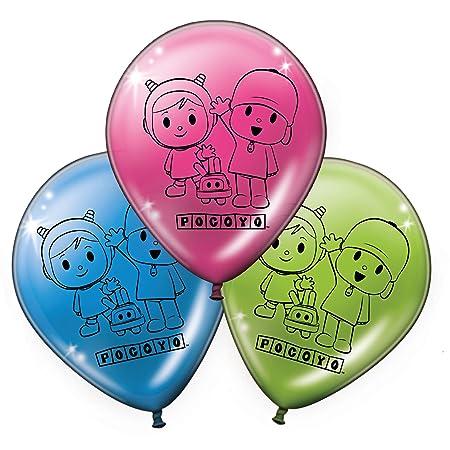 Verbetena, 016001512, pack 8 globos fiesta y cumpleaños Pocoyo y Nina,