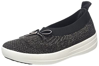 07a5fd7a4 FitFlop Women s Uberknit Slip-On Ballerina Black 5 M US M ...