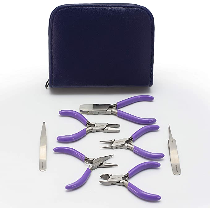 3 Pieces Mini Jewelry Making Pliers Bead Tools Set