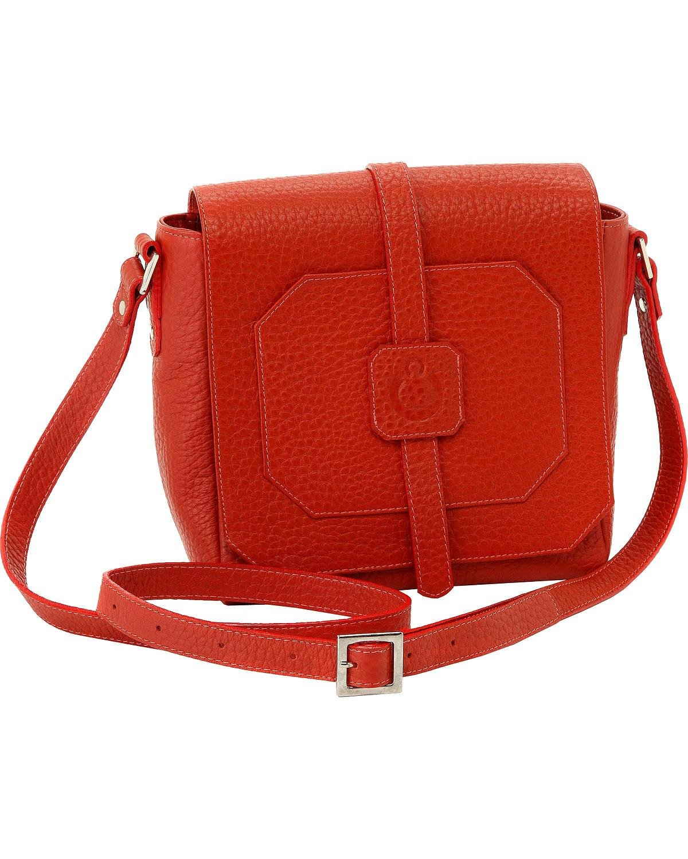 Designer Concealed Carry Women's Burnt Orange Cubic Crossbody Bag Orange One Size