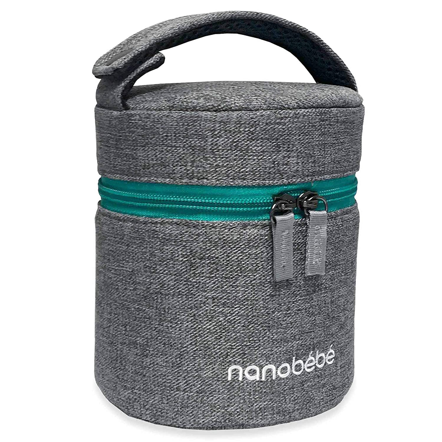 nanobebe Breastmilk Baby Bottle Cooler & Travel Bag with Ice Pack Included. Compact Triple Insulated, Easily attaches to Stroller or Diaper Bag
