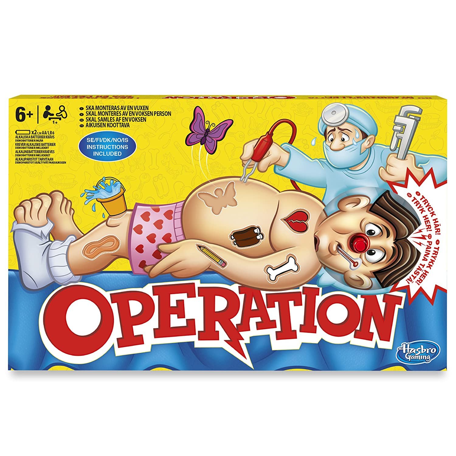 hasbro operation game online