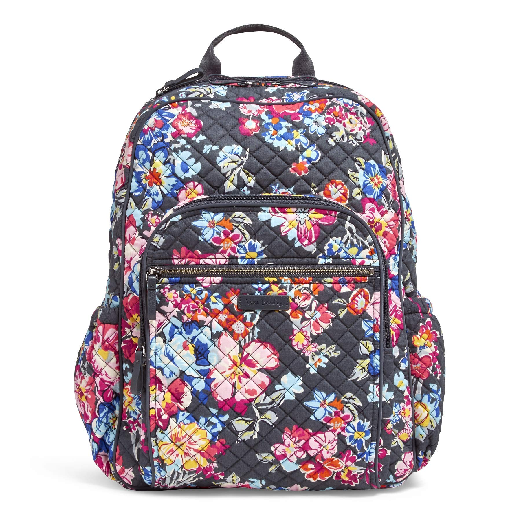 Vera Bradley Iconic Campus Backpack, Signature Cotton, Pretty Posies