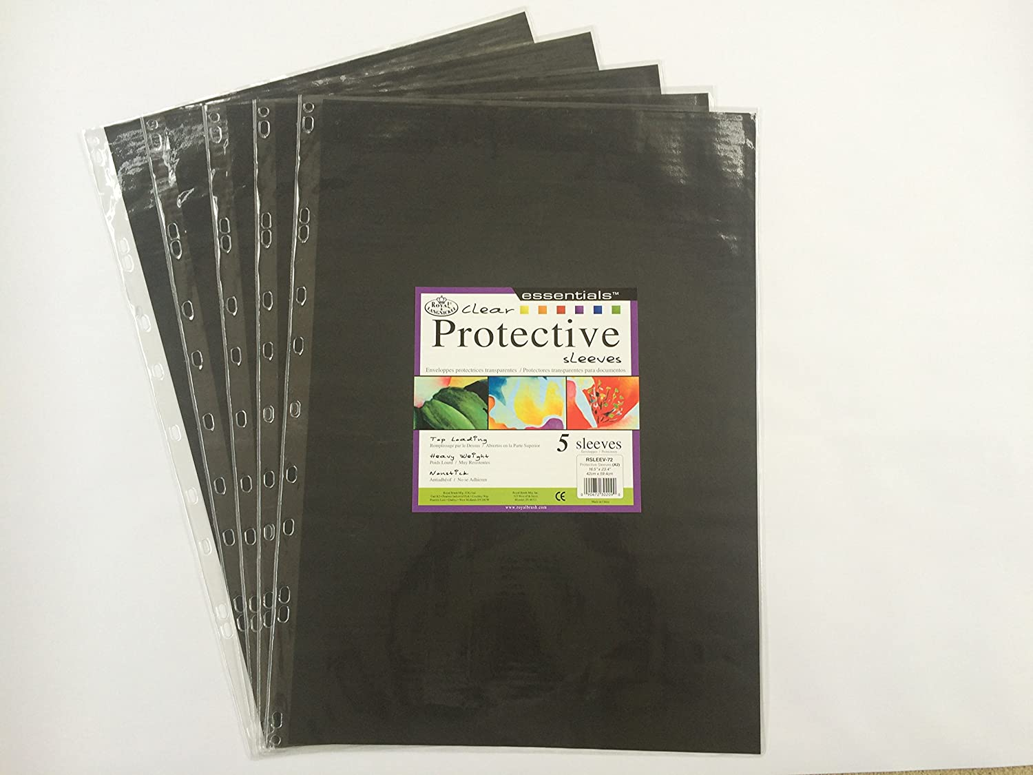 pack of 5 Royal /& Langnickel clear portfolio display sleeves A2 size