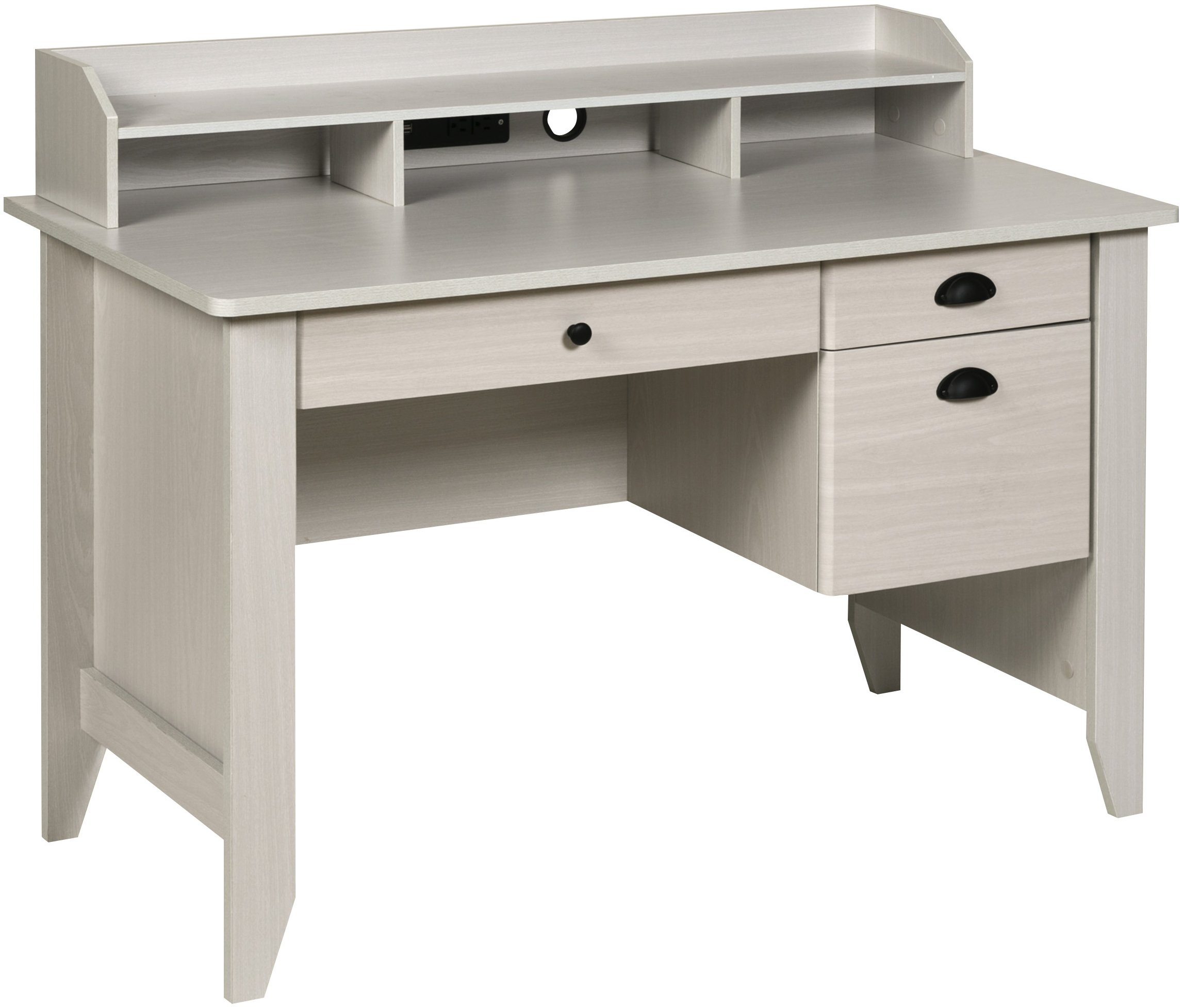 OneSpace 50-1617WO Executive Desk, White Oak by OneSpace