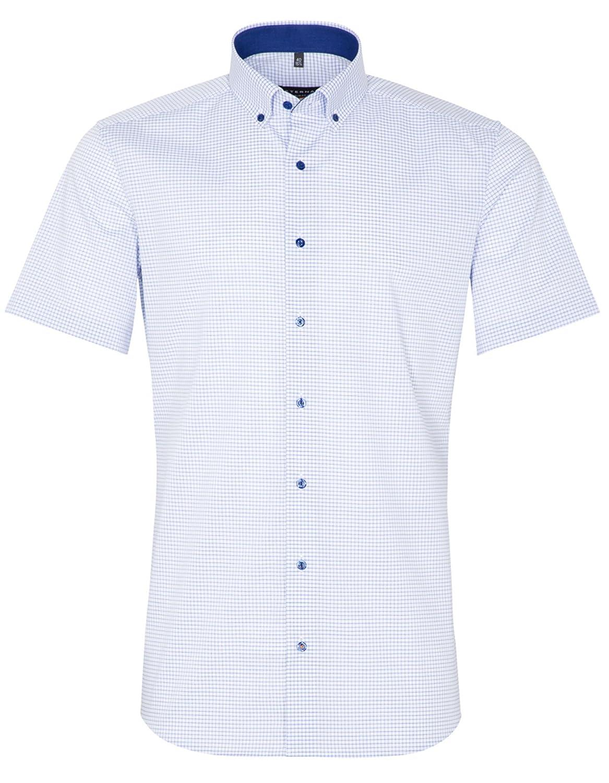 Eterna - Camisa Casual - Cuadros - con Botones - Manga Corta - para Hombre