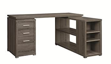 coaster 800518 home furnishings office desk weathered grey amazoncom coaster shape home office