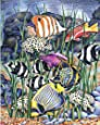 Royal & Langnickel Colour Pencil by Numbers Tropical Fish Designed Painting Set