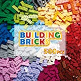PANLOS STEM Building Bricks Kit Classic Colors 500 Pieces Building Blocks Toys-Compatible with All Major Brands