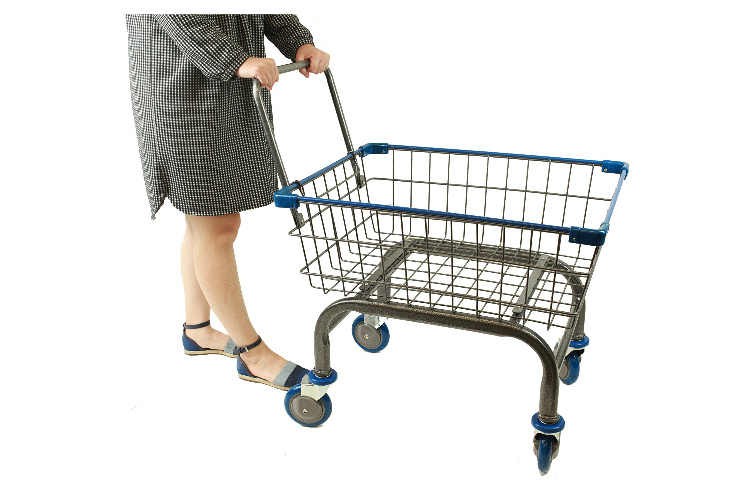 Cart⊃ply 1.8 bu Household & Commercial Cart With U- Handle (Blue)