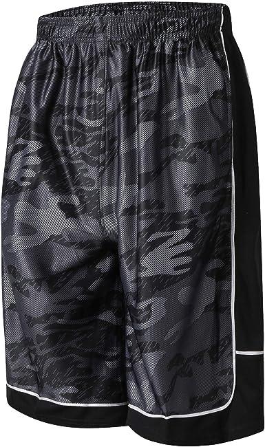 PTSports Mens Basketball Gym Shorts Running Workout Shorts with Pockets /& Drawstring
