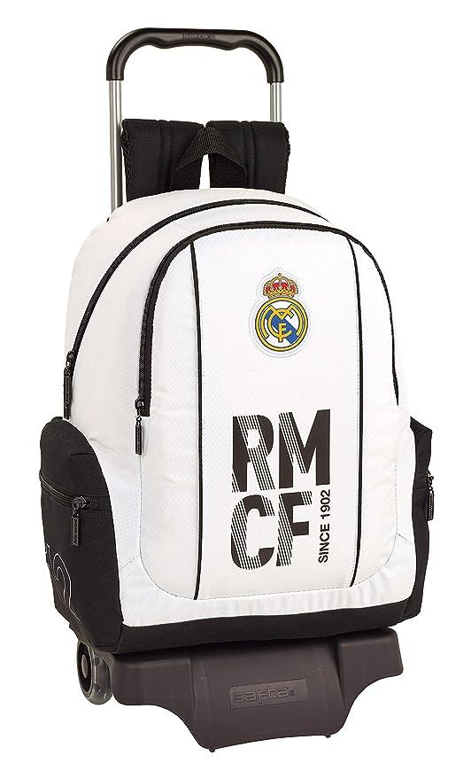 Real Madrid 611854313 2018 Mochila Escolar 43 cm, Blanco