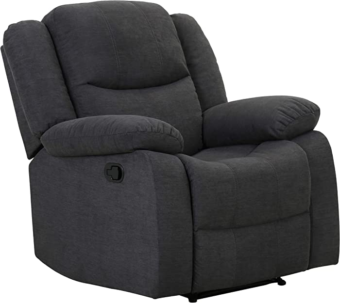 "Amazon Brand – Ravenna Home Recliner Chair, 37""W, Dark Grey"