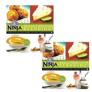 Ninja Blender Cookbook Breakthrough Blending 150 Recipe Cook Book (2 Pack)