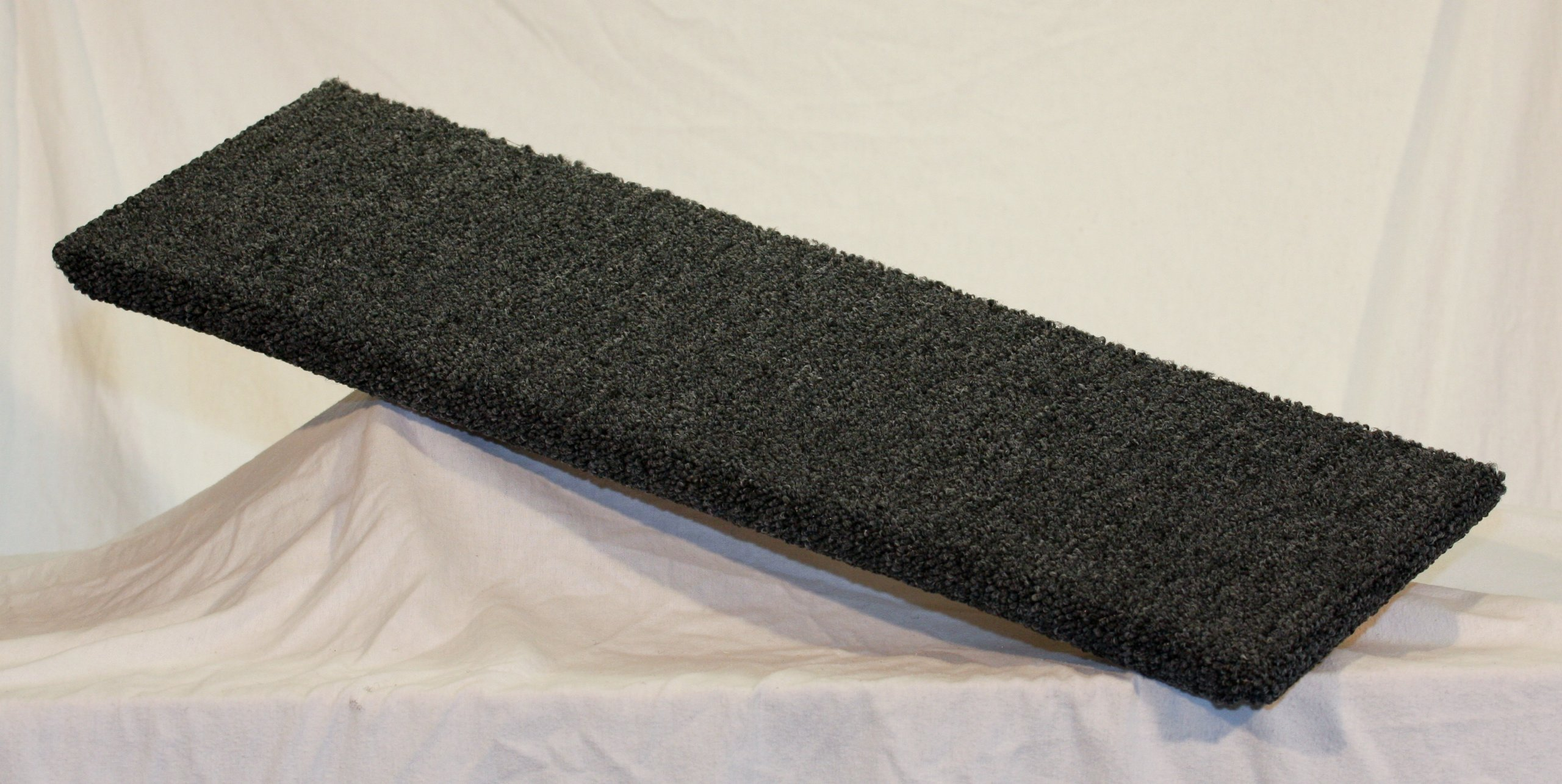 Carpeted Wall Mounted Cat Shelf Dark Grey Large 30