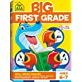 School Zone - Big First Grade Workbook - Ages 6 to 7, 1st Grade, Beginning Reading, Parts of Speech, Basic Math, Word Problem
