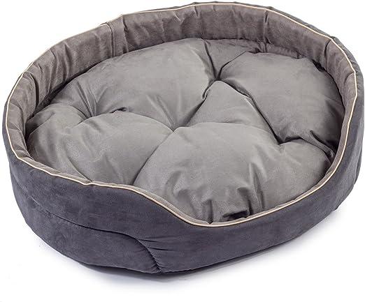 Boutique Zoo – Elegante cama para perros gris, alcantara/cama para perros para pequeñas/medianas/Perros Grandes | sofá, perros – Cojín para perros | XS, S, M, L, XL, XXL, XXXL: Amazon.es: Productos para