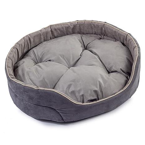 Boutique Zoo - Elegante cama para perros gris, cama para perros para pequeñas/medianas