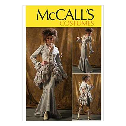 Amazon.com: McCall Pattern Company M6770 Misses\' Jacket, Bustle ...