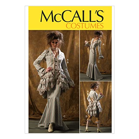 Steampunk Sewing Patterns- Dresses, Coats, Plus Sizes, Men's Patterns McCall Pattern Company M6770 Misses Jacket Bustle/Capelet Skirt and Pants Sewing Template Size D5 (12-14-16-18-20) $8.95 AT vintagedancer.com