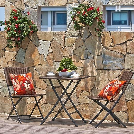 Grand Patio - Juego de muebles para terraza o balcón, plegables ...