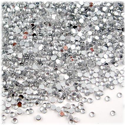 2500 Pieces 2mm Blue-Grey Metal Round Studs