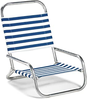 product image for Telescope Casual Sun and Sand Folding Beach Chair, Blue/White Stripe (73313601)