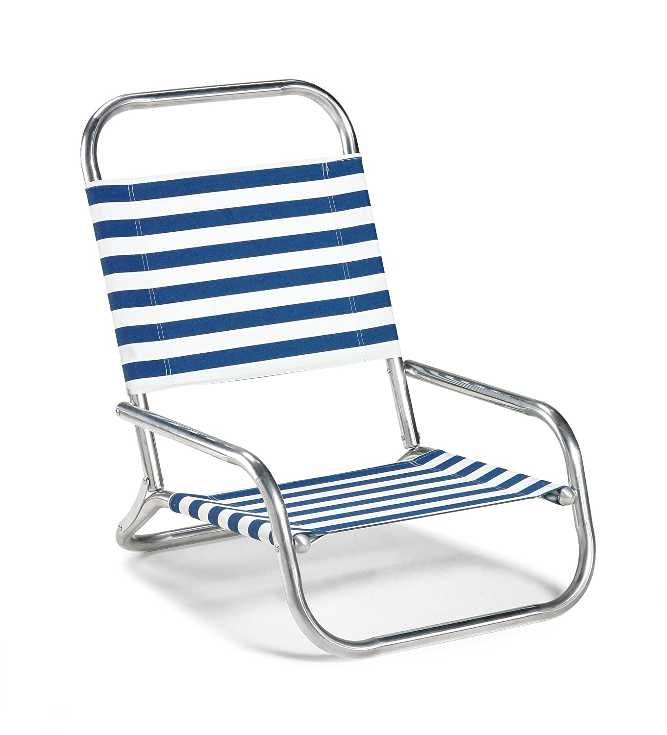 Telescope Casual Sun and Sand Folding Beach Chair, Blue White Stripe 73313601