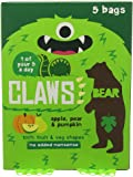 Bear Claws Apple/Pear and Pumpkin Fruit 5 Snack Bags (Pack of 5, Total 25 Bags)