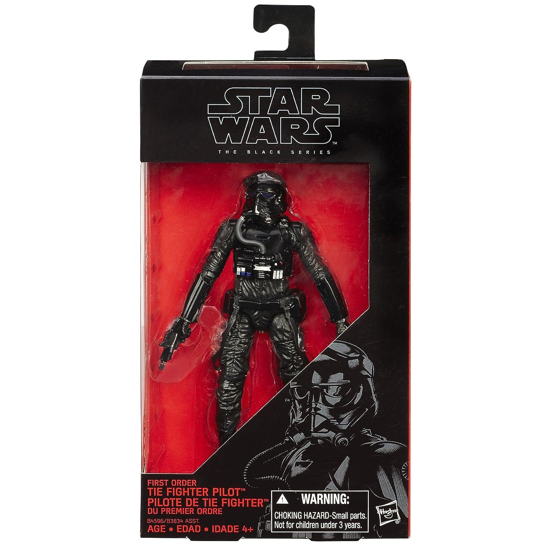 Hasbro Star Wars: El Despertar de la Fuerza Serie Negro 6 Pulgadas Primera Orden Tie Fighter Pilot: Amazon.es: Juguetes y juegos