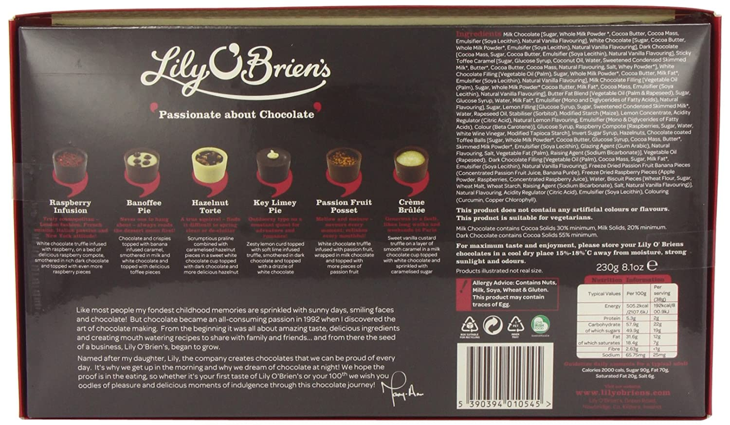 Lily OBriens Desserts Collection Assorted Collection of Finest Milk Dark and White Chocolate Dessert Recipes (Pack of 2): Amazon.es: Alimentación y ...