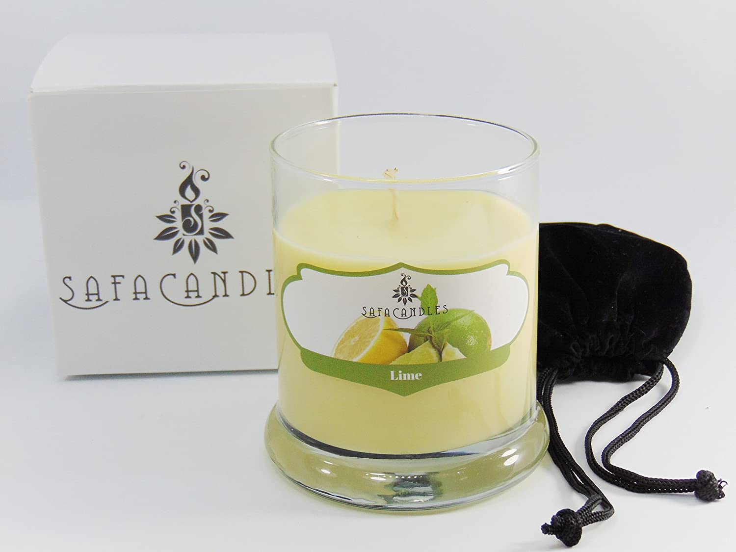 Amazon Com Safa Scented Candles Lemon Candle Luxury Scented Soy Jar Candle Hand Poured In The Usa Candle For Men Women Long Lasting Candle Home Improvement