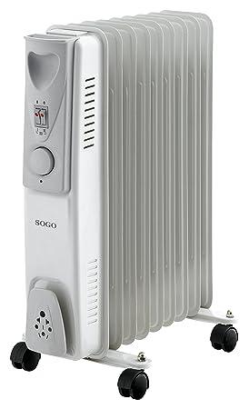 Sogo CAL-SS-18209 Radiador de Aceite eléctrico, 9 Elementos, 2000 W