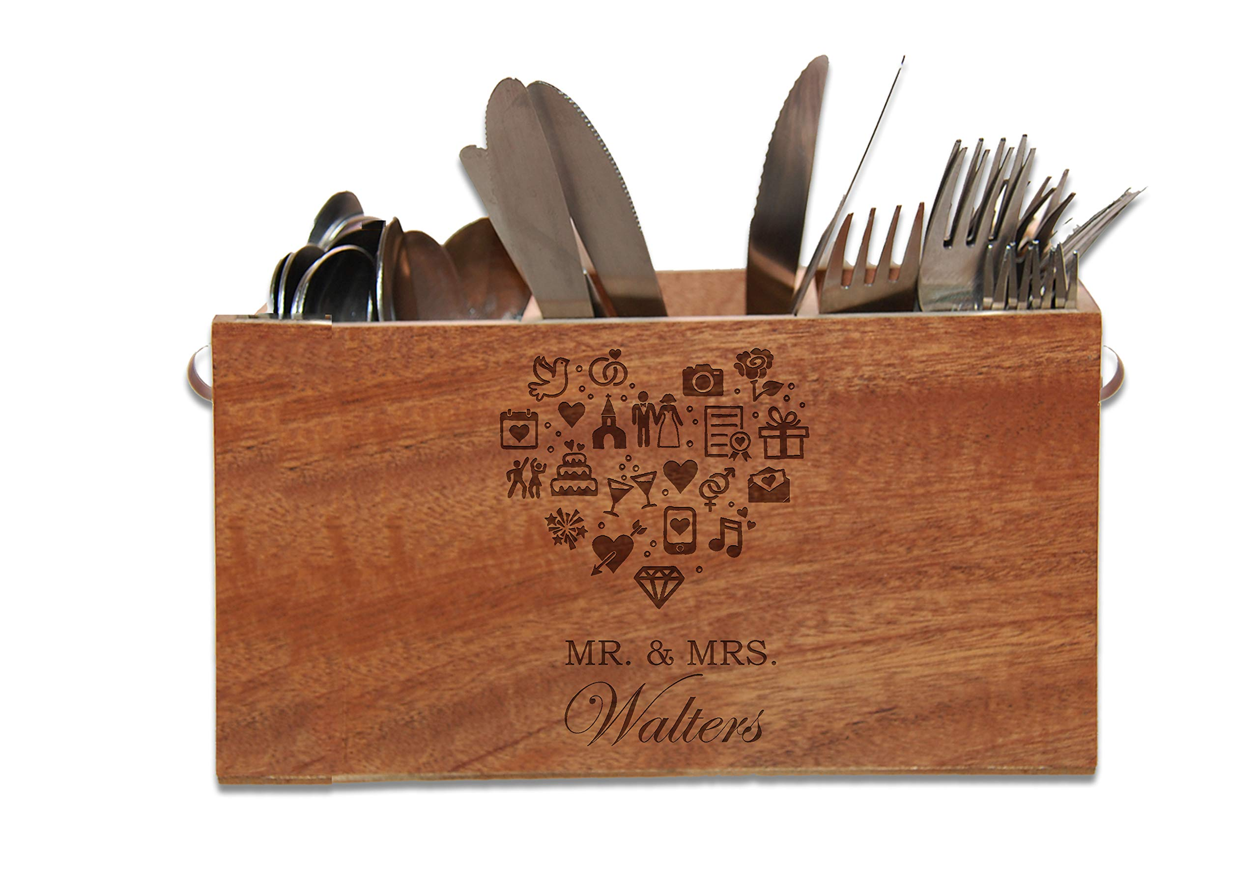 Wedding Gift - Personalized Caddy with Monogram or Initial includes Tool Set - Housewarming Gift - Hostess Gift