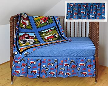 Amazon Com Ford Tractors Crib Bedding Nursery Set Baby