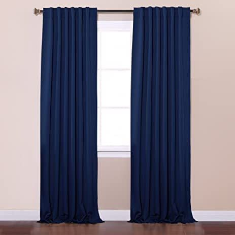Perfect Best Home Fashion Thermal Insulated Blackout Curtains   Back Tab/ Rod  Pocket   Navy