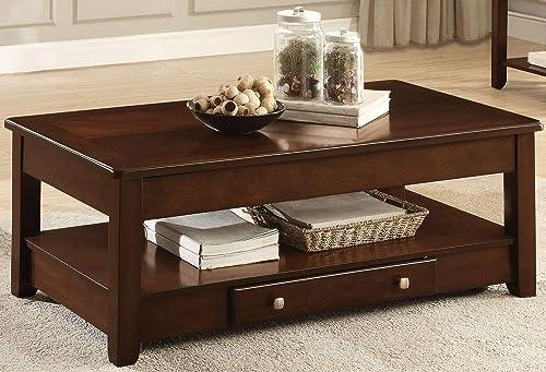 Homelegance Coffee Table, Cherry