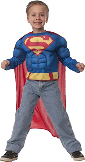 Rubies Kit Disfraz de Superman musculoso para niño: Amazon.es ...