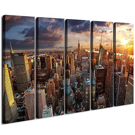 Ciudad de Nueva York Atardecer, arte de pared grande de ...