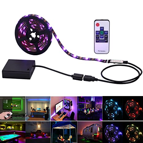 Amazon inwaysin led strip lights usb battery powered rgb strip inwaysin led strip lights usb battery powered rgb strip light 656ft2m 60leds aloadofball Choice Image