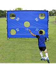 Pinty Porta da Calcio in Nylon ad Alta Resistenza e Tubi in Acciaio Rivestito in Polvere per Ragazzi Obiettivo di Calcio