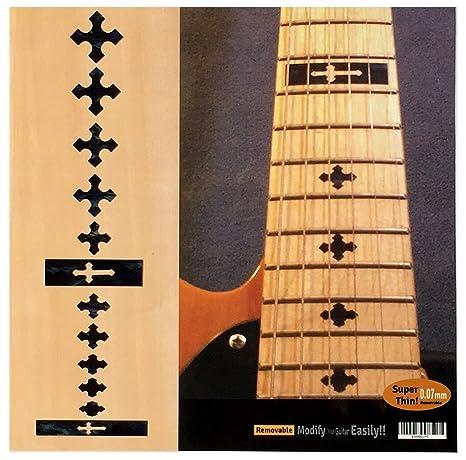 Pegatinas de incrustaciones para guitarra y bajo – Cross-BP.