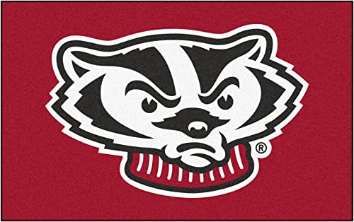 FANMATS NCAA University of Wisconsin Badgers Nylon Face Ultimat Rug