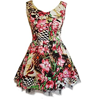 3d07f65966 Hearts   Roses H R London Pink Mini Dress  Lily Checkerboard  Flowers