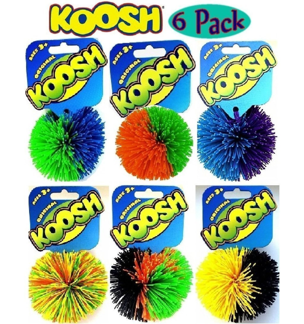 Koosh Balls Multi-Color Gift Set Bundle - 6 Pack